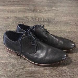 Mens leather Aldo dress shoes black size 12 formal